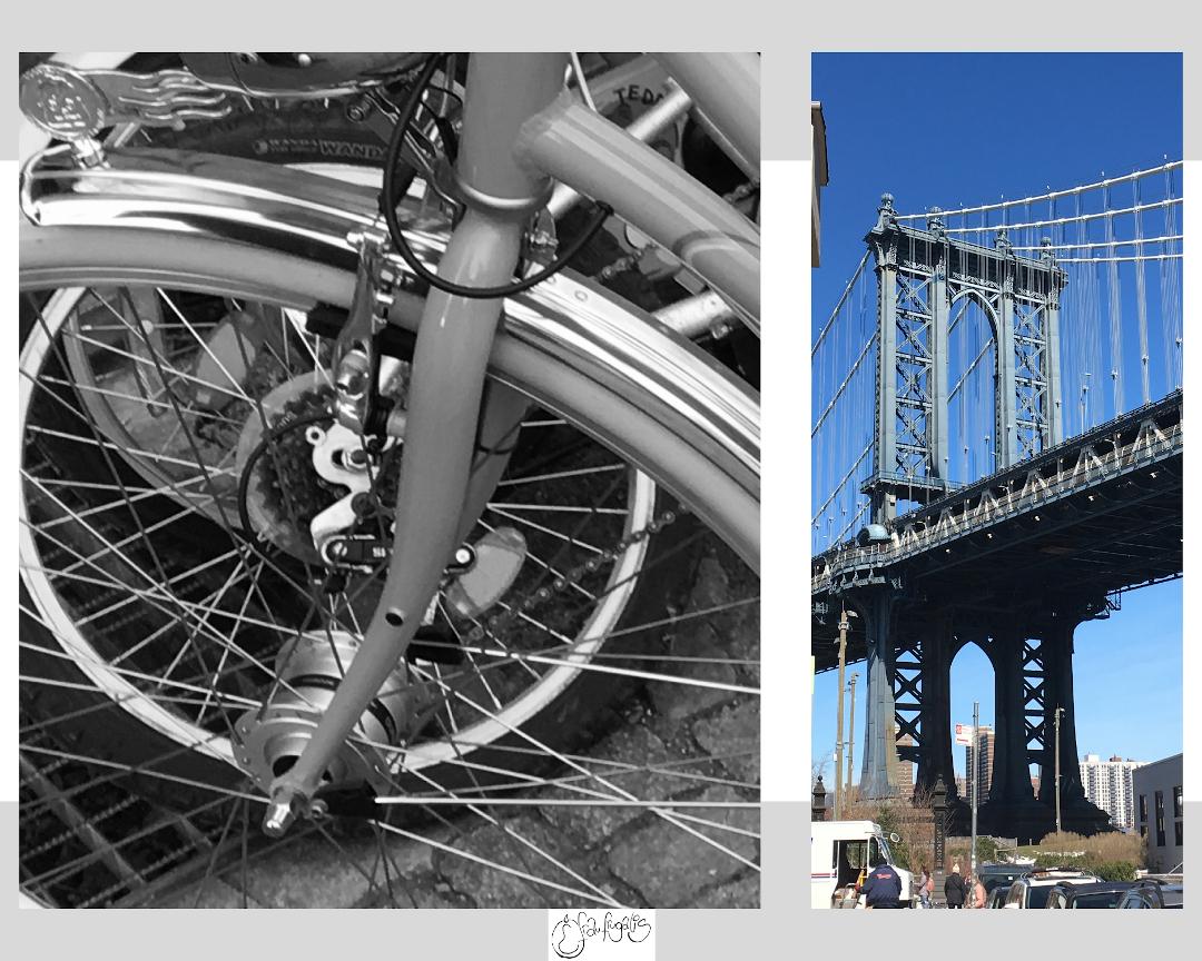 Diamant Fahrrad und Brooklyn Bridge NYC